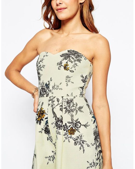 Asos Occasion Tailored Floral Jumpsuit in Multicolor ...