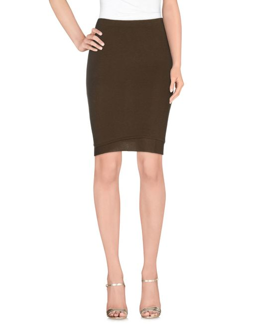 marant knee length skirt in khaki lyst