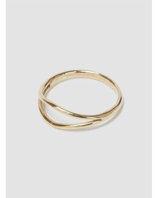 Wwake | Metallic Split Ring Gold | Lyst