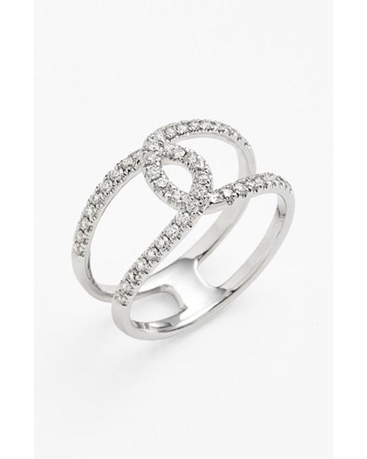Bony Levy | Metallic 'knot' Diamond Cocktail Ring (nordstrom Exclusive) | Lyst