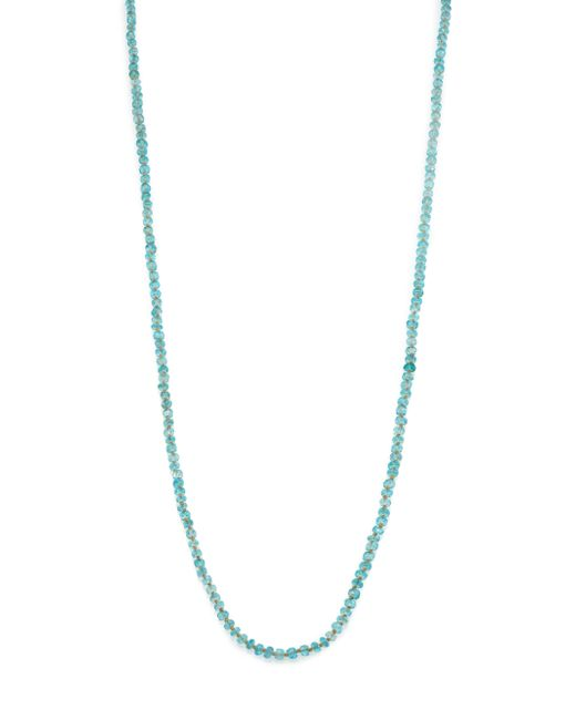 Lena Skadegard | Blue Apatite & 18k Yellow Gold Beaded Strand Necklace | Lyst