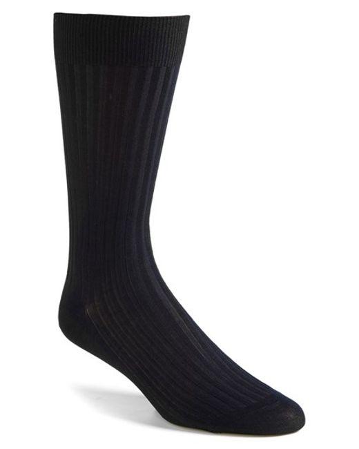 Pantherella   Blue Cotton Blend Mid Calf Dress Socks for Men   Lyst