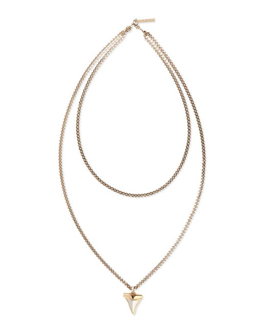 Givenchy | Metallic Small Shark Tooth Double-strand Necklace | Lyst