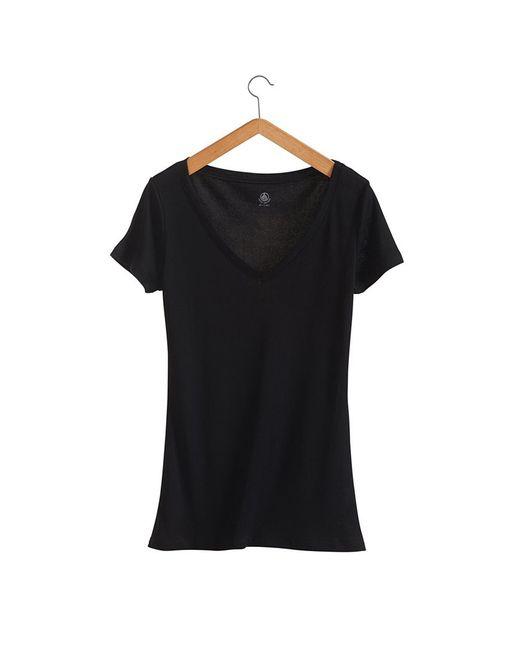 Petit Bateau | Black Women's Light Cotton, V-neck Tee | Lyst