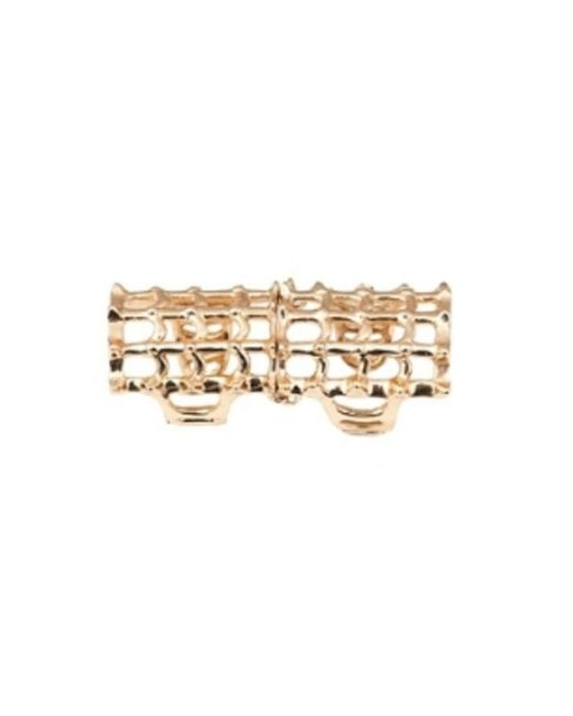 Bernard Delettrez | Metallic Cage And Studs Articulated Bronze Ring | Lyst