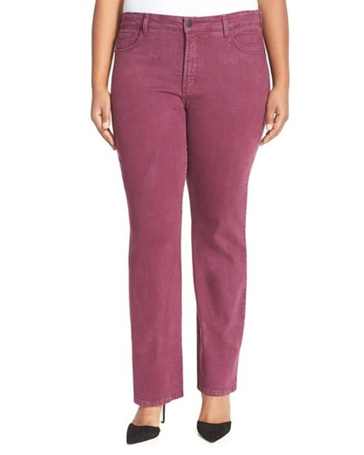 NYDJ | Pink 'barbara' Colored Stretch Bootcut Jeans | Lyst