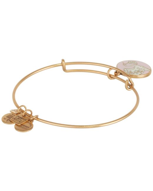 ALEX AND ANI | Metallic Pink Special Delivery Charm Bangle | Lyst