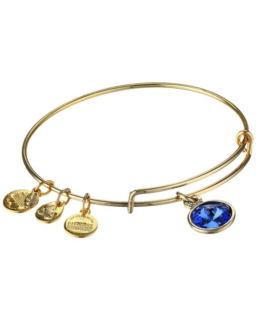 ALEX AND ANI | Blue September Birthstone Charm Bangle | Lyst