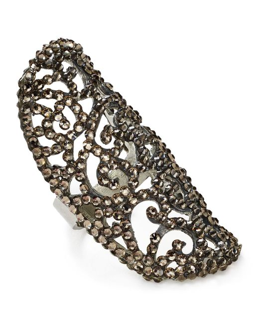 Roni Blanshay | Silver Greige Lacey Ring | Lyst