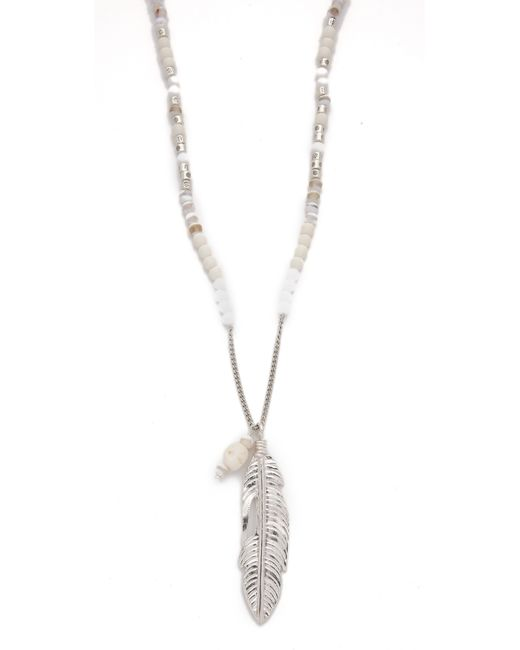 Chan Luu | Metallic Mother Of Pearl, Agate & Sodalite Long Necklace | Lyst