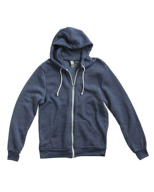 Alternative Apparel | Blue Zip Up Hoodie for Men | Lyst