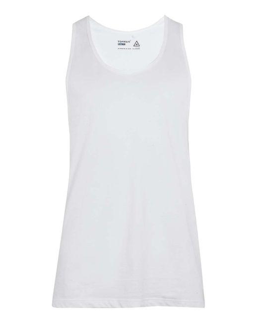 TOPMAN   White Classic Vest for Men   Lyst
