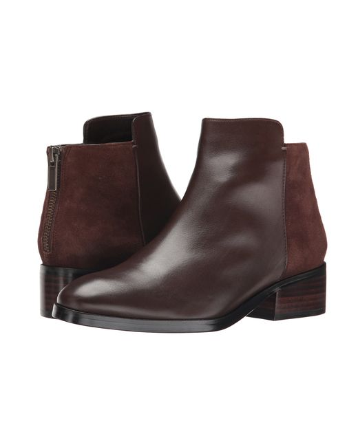 Cole Haan | Brown Elion Grand.os Leather & Suede Bootie | Lyst