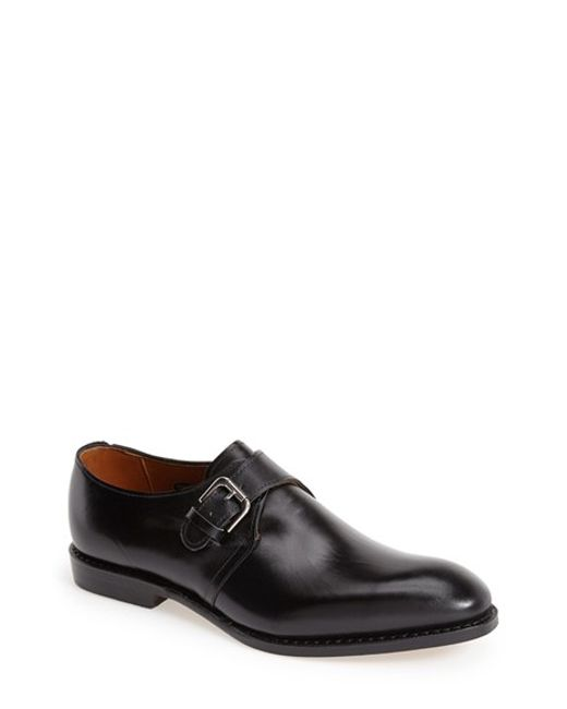 Allen Edmonds | Black 'warwick' Monk Strap Shoe for Men | Lyst
