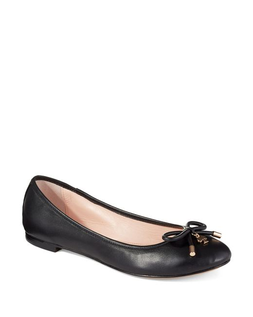 Kate Spade | Black Willa Leather Flats | Lyst