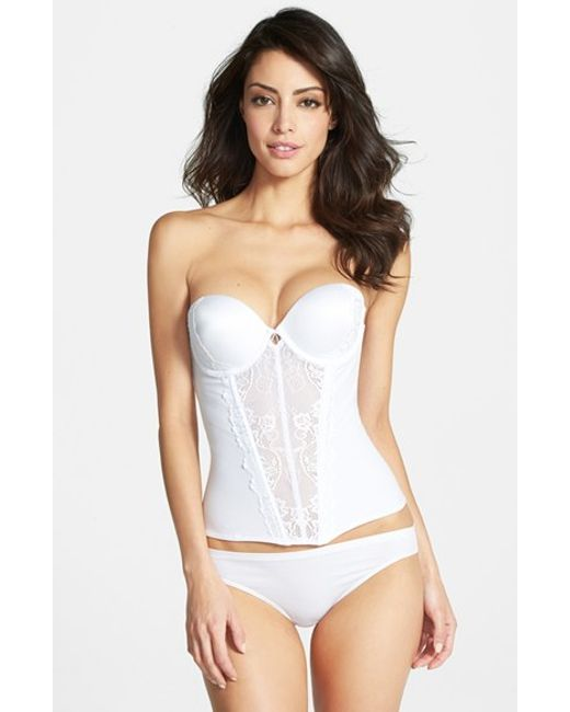 Felina | White 'caress Too' Lace Underwire Bustier | Lyst