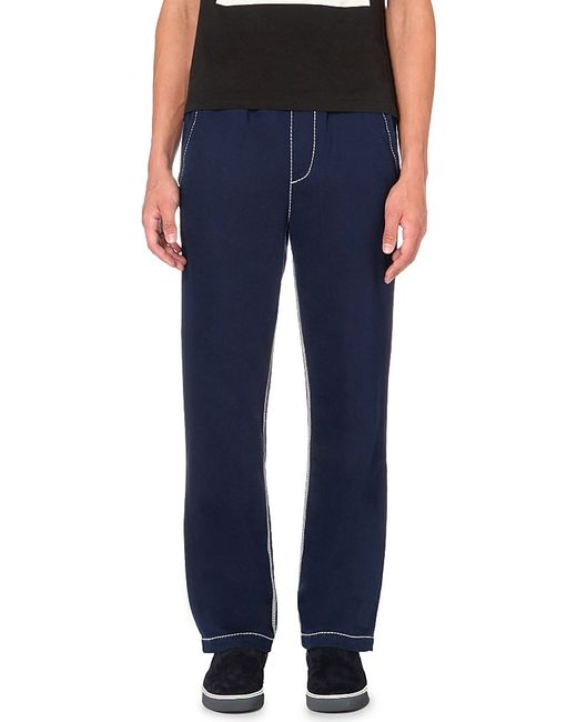 True Religion | Blue Contrast-stitch Jersey Jogging Bottoms for Men | Lyst