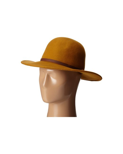 San Diego Hat Company | Brown Wfh7958 Floppy Round Crown And Leather Band | Lyst