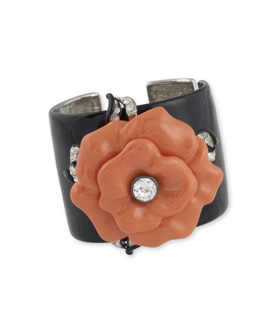 Kenneth Jay Lane | Pink Coral Flower Cuff | Lyst
