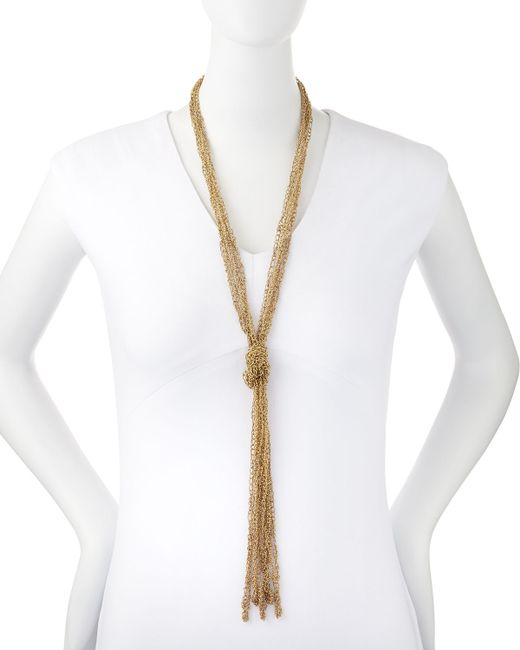 Rosantica | Metallic Penelope Five-strand Crochet Tassel Necklace | Lyst
