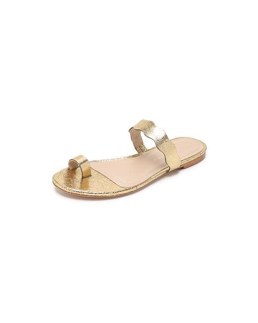Loeffler Randall   Metallic Petal Toe Ring Sandals   Lyst