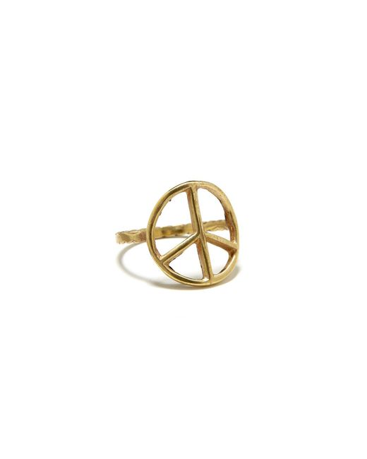 Bing Bang | Yellow Peace Sign Ring | Lyst
