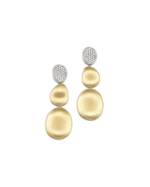 Marco Bicego | Metallic Diamond Lunaria Three Drop Large Earrings In 18k Yellow Gold | Lyst
