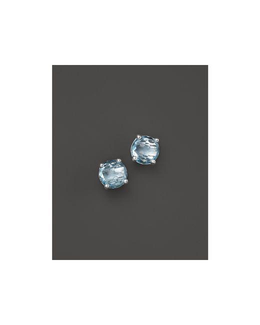 Ippolita | Rock Candy Sterling Silver Mini Stud Earrings With London Blue Topaz | Lyst