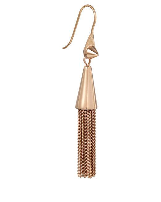 Eddie Borgo | Metallic Small Rose Gold Plated Chain Tassel Drop Earrings | Lyst
