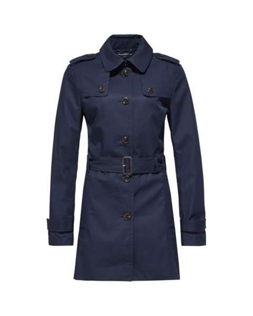 tommy hilfiger heritage trench coat in blue navy lyst. Black Bedroom Furniture Sets. Home Design Ideas