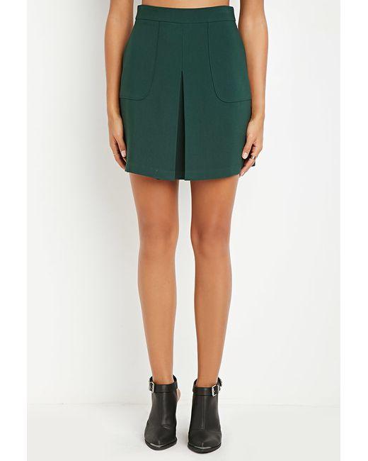 Forever 21 | Green Contemporary Paneled Crepe Skirt | Lyst
