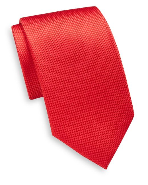 Saint Laurent | Textured Silk Tie for Men | Lyst