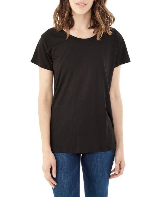 Alternative Apparel | Black Essential Cotton Modal T-shirt | Lyst