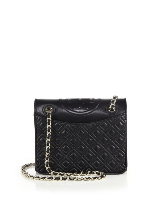 Tory Burch | Black Fleming Medium Quilted Leather Shoulder Bag | Lyst