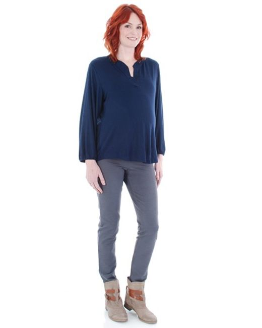 Everly Grey | Blue 'izzy' Maternity Top | Lyst