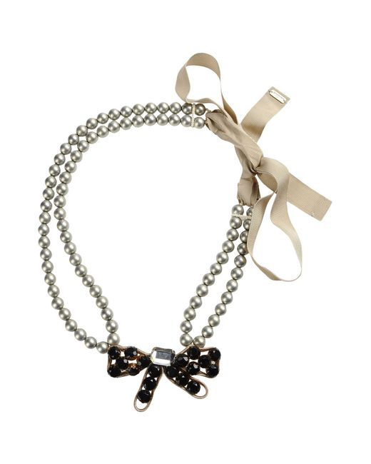 Moschino | Gray Necklace | Lyst