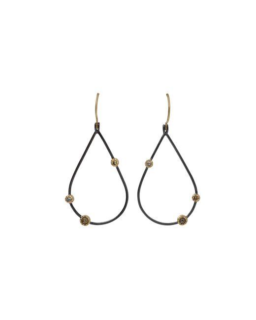 Todd Reed | Black Openwork Teardrop Diamond Earrings | Lyst