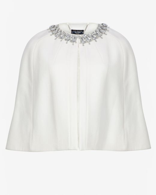 Ted Baker | White Embellished Cape | Lyst