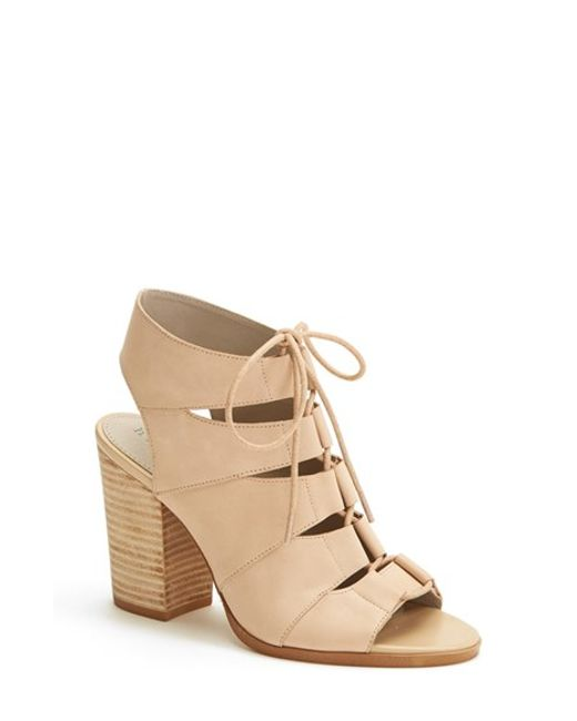 Hinge | Pink Drea Leather Sandals | Lyst