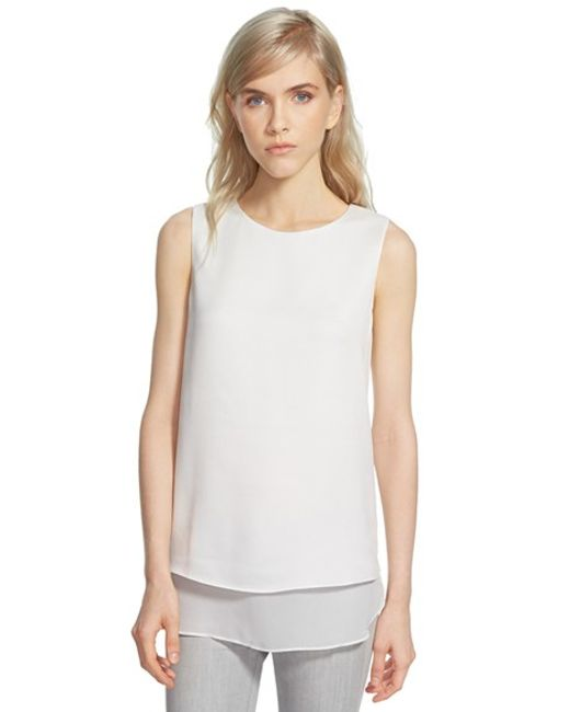 Cooper & Ella | White Textured Sleeveless Top | Lyst