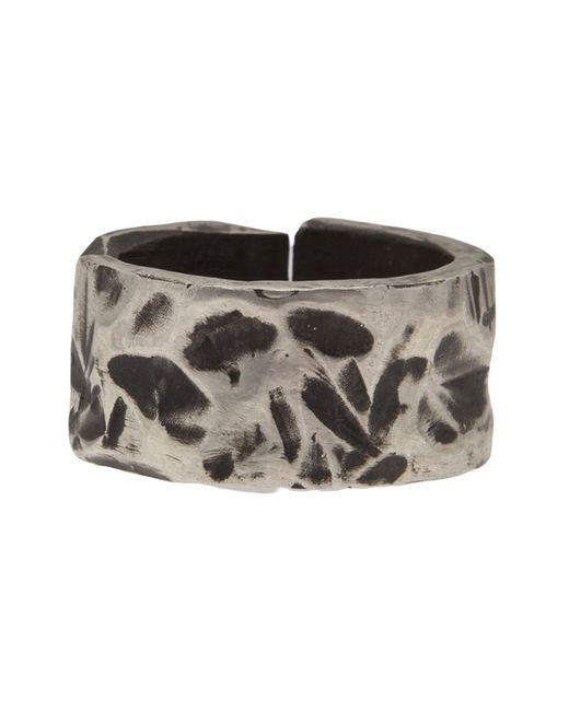 Henson   Metallic Carved Split Ring   Lyst