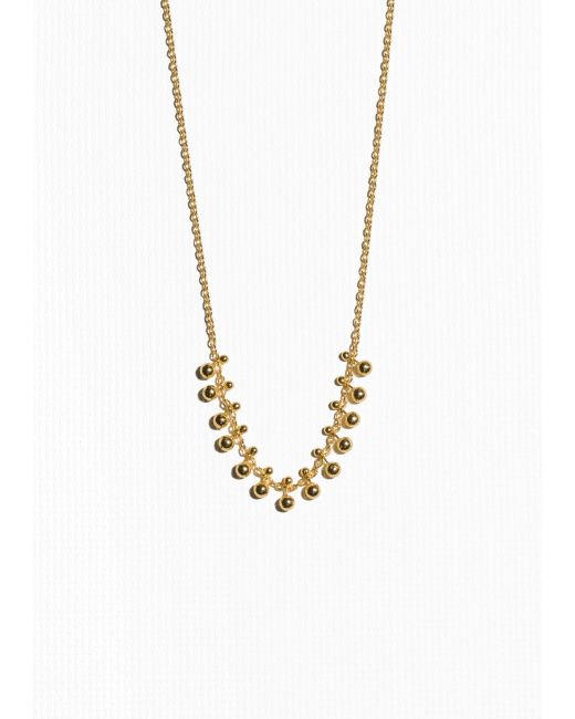 & Other Stories | Metallic Gold-plated Sterling Silver Necklace | Lyst