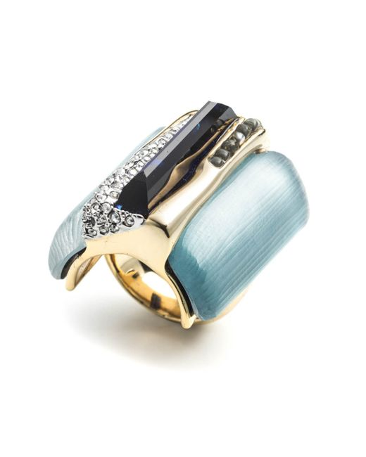 Alexis Bittar | Blue Ombre Cabochon Striped Cocktail Ring You Might Also Like | Lyst