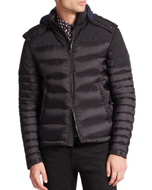 Burberry | Black Farrier Puffer Jacket for Men | Lyst