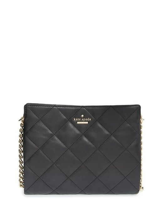 kate spade new york | Black 'emerson Place - Mini Convertible Phoebe' Quilted Leather Shoulder Bag | Lyst