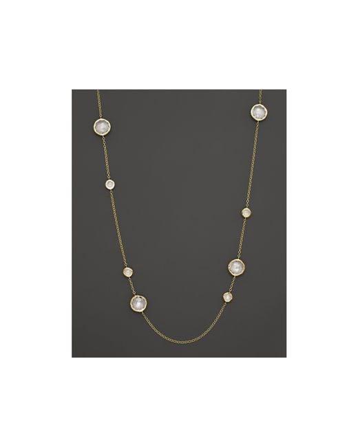 "Ippolita | Metallic 18k Gold Lollipop Station Necklace In Clear Quartz, 37"" | Lyst"