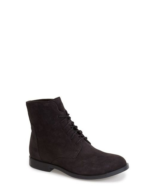 Camper | Black Lace-up Bootie | Lyst