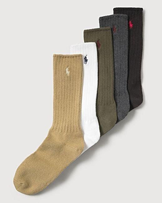 Polo Ralph Lauren | Green Men's Stretch Cotton Socks for Men | Lyst