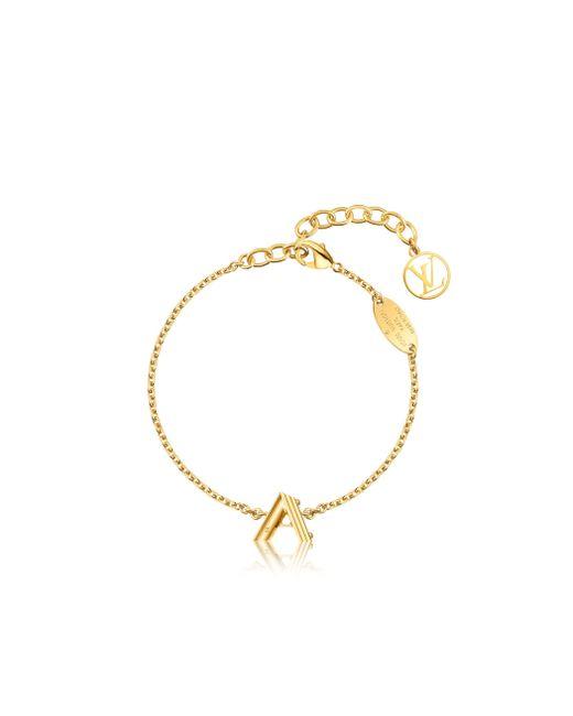Louis Vuitton   Metallic Lv & Me Bracelet, Letter A   Lyst
