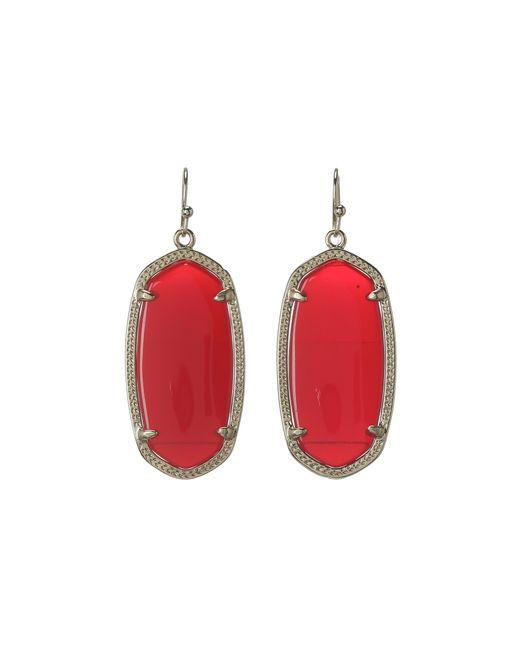 Kendra Scott | Red 'dani' Drop Earrings | Lyst